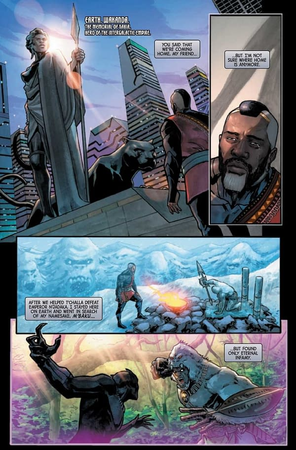 Interior preview page from LAST ANNIHILATION WAKANDA #1
