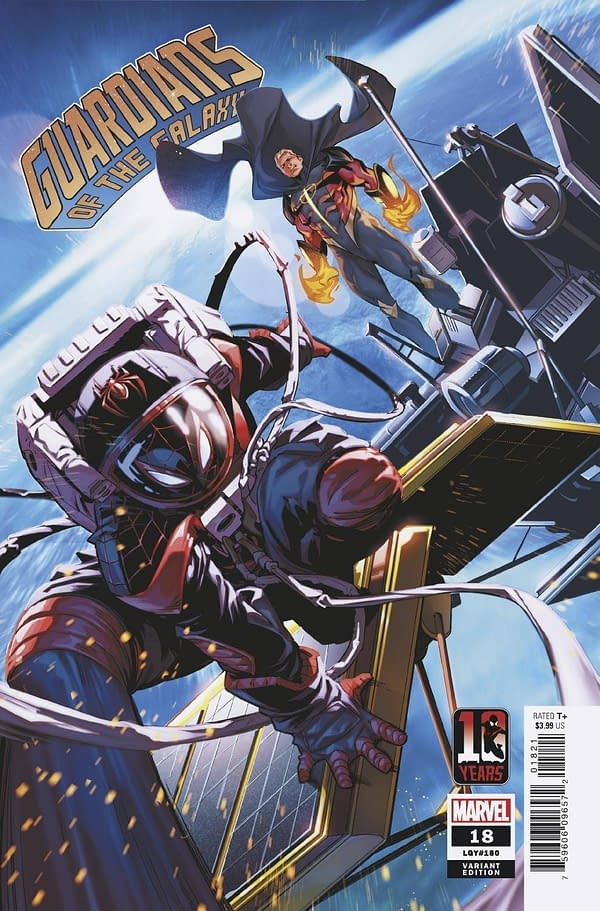 Cover image for GUARDIANS OF THE GALAXY #18 MILES MORALES 10TH ANNIV VAR ANH