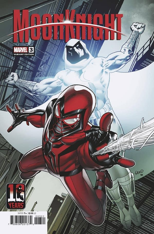 Cover image for MOON KNIGHT #3 LAND MILES MORALES 10TH ANNIV VAR
