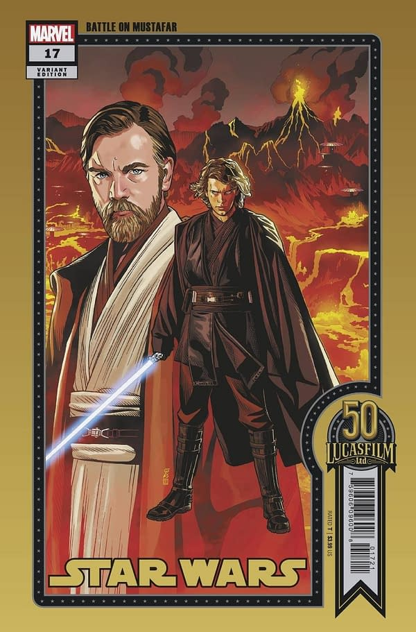 Cover image for STAR WARS #17 SPROUSE LUCASFILM 50TH VAR WOBH