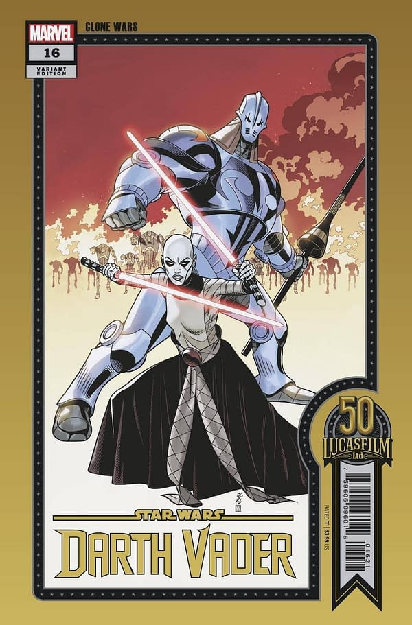 Cover image for STAR WARS DARTH VADER #16 SPROUSE LUCASFILM 50TH VAR WOBH