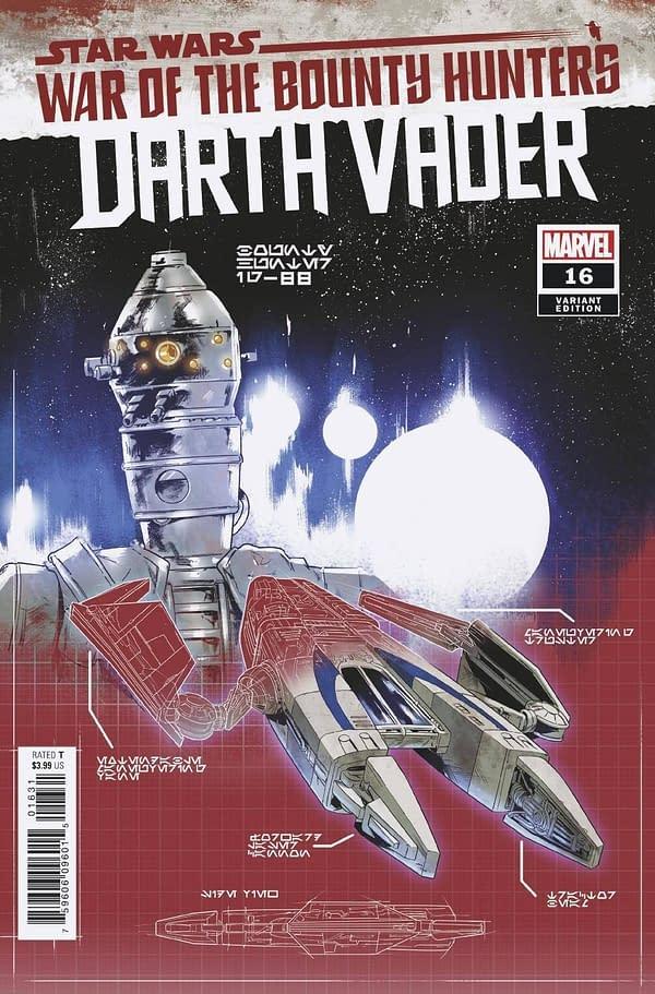 Cover image for STAR WARS DARTH VADER #16 VILLANELLI BLUEPRINT VAR WOBH