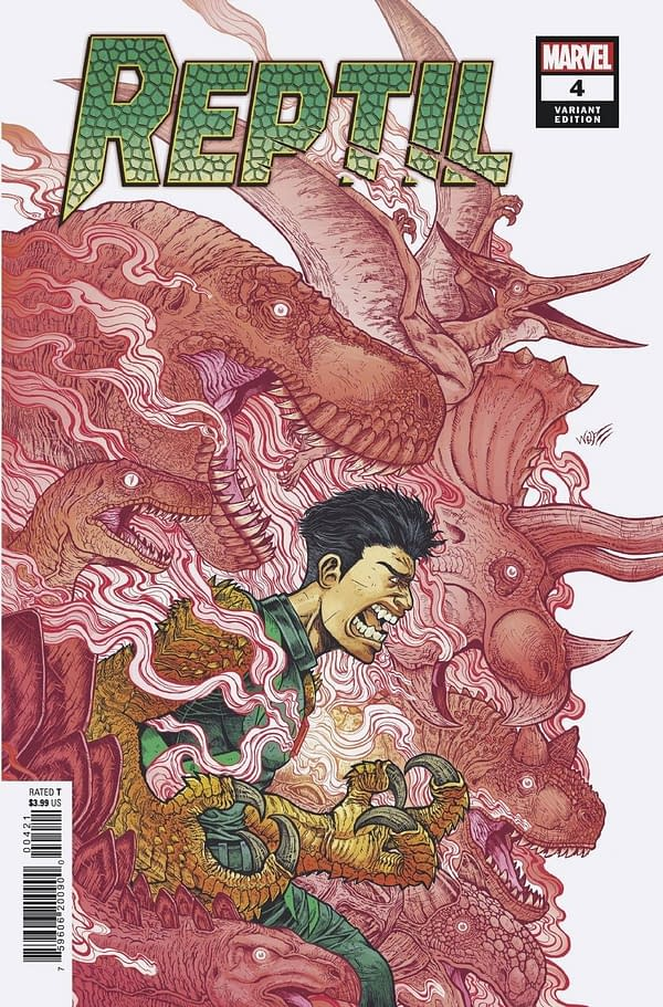 Cover image for REPTIL #4 (OF 4) WOLF VAR