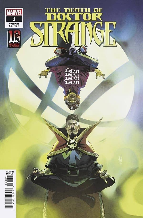 Cover image for DEATH OF DOCTOR STRANGE #1 (OF 5) MILES MORALES 10TH ANNIV V