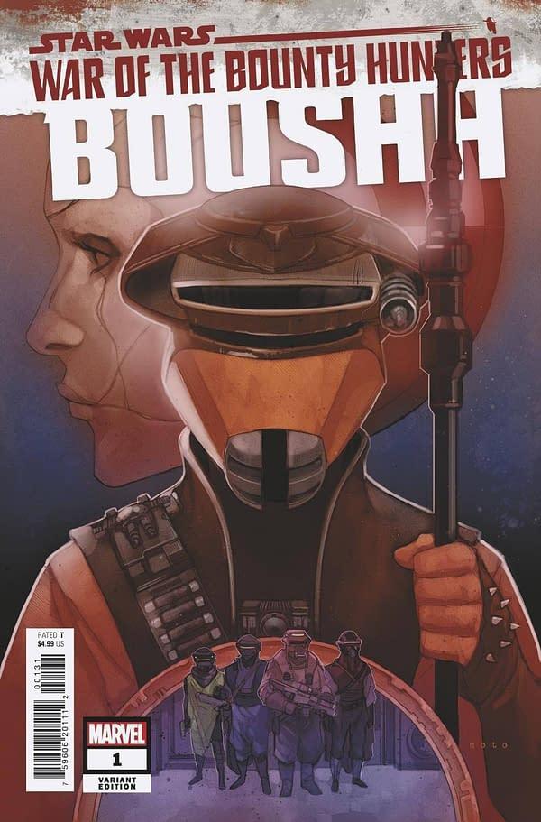 Cover image for STAR WARS WAR BOUNTY HUNTERS BOUSHH #1 NOTO VAR