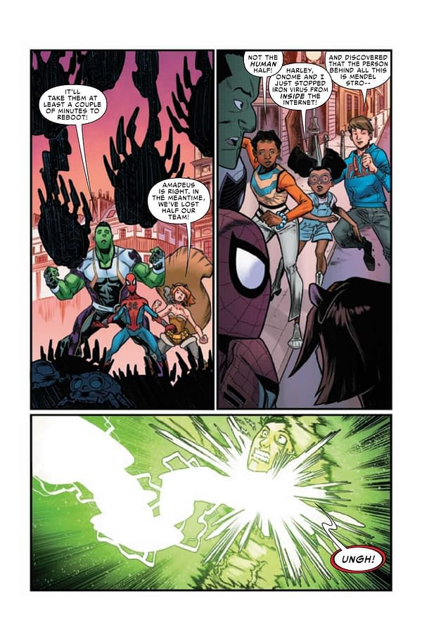 Interior preview page from WEB OF SPIDER-MAN #5 (OF 5)