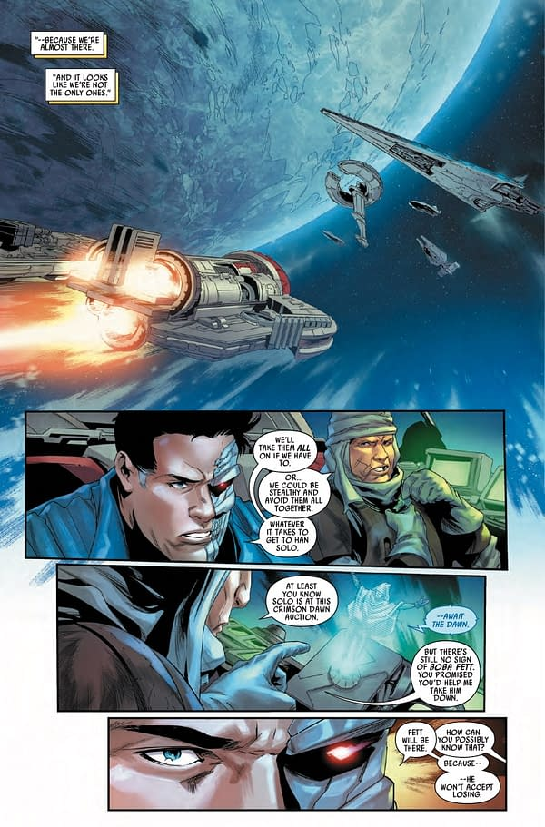 Interior preview page from STAR WARS BOUNTY HUNTERS #16 WOBH