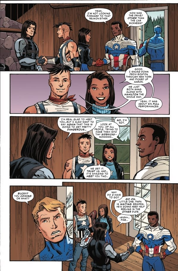 Interior preview page from JUL210700 UNITED STATES OF CAPTAIN AMERICA #4 (OF 5), by (W) Christopher Cantwell, Alyssa Wong (A) Ron Lim, Jodi Nishijima (CA) Gerald Parel, in stores Wednesday, September 22, 2021 from MARVEL COMICS
