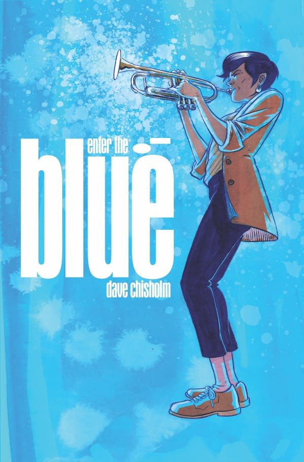 The cover to Enter the Blue by Dave Chisholm from Z2 Comics