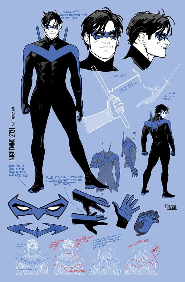 Nightwing Gets His Blue Finger Stripes Back In January 2022