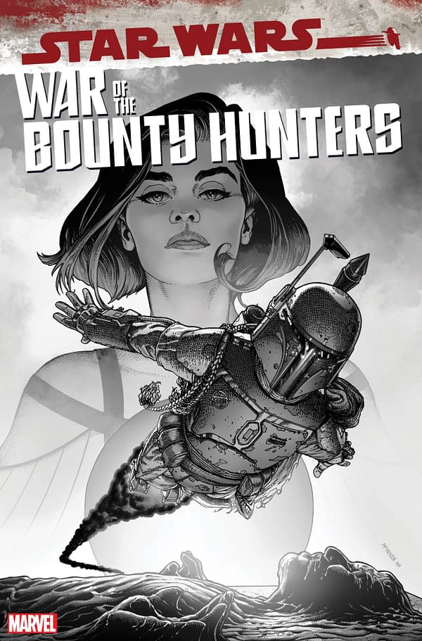 Cover image for AUG211241 STAR WARS WAR BOUNTY HUNTERS #5 (OF 5) MCNIVEN CARBONITE VAR, by (W) Charles Soule (A) Luke Ross (CA) Steve McNiven, in stores Wednesday, October 13, 2021 from MARVEL COMICS