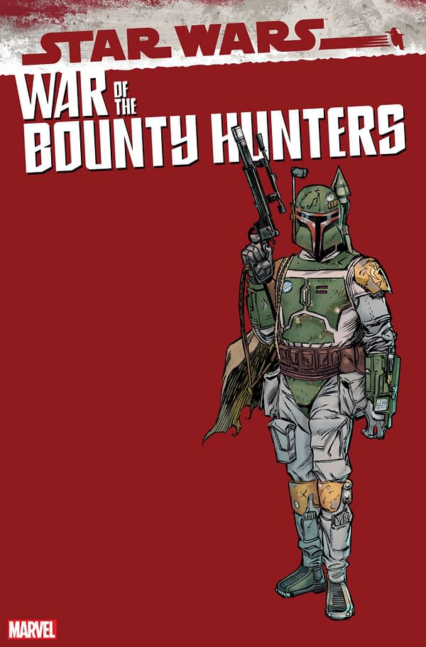 Cover image for AUG211239 STAR WARS WAR OF THE BOUNTY HUNTERS #5 (OF 5) FRENZ HANDBOOK VAR, by (W) Charles Soule (A) Luke Ross (CA) Ron Frenz, in stores Wednesday, October 13, 2021 from MARVEL COMICS