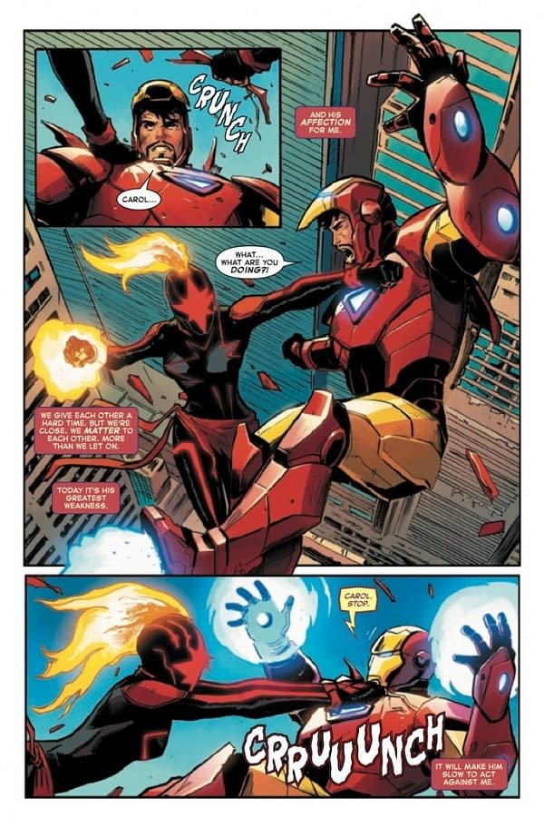 Killing Iron Man in Captain Marvel #13 [Preview]