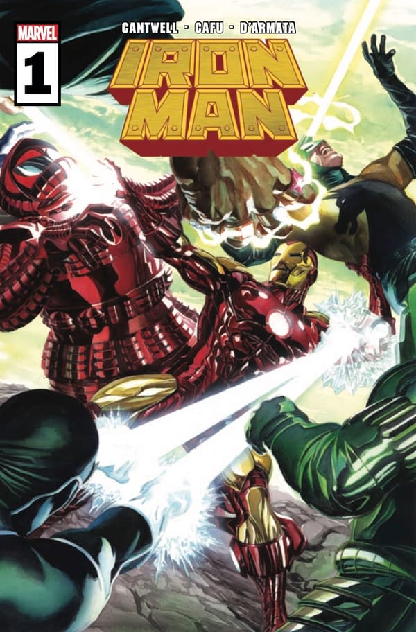 Cantwell and Cafu's Iron Man #1 cover. Credit: Marvel