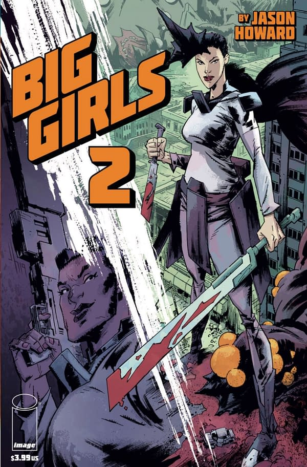 Big Girls #2 cover by Jason Howard. Credit: Image Comics