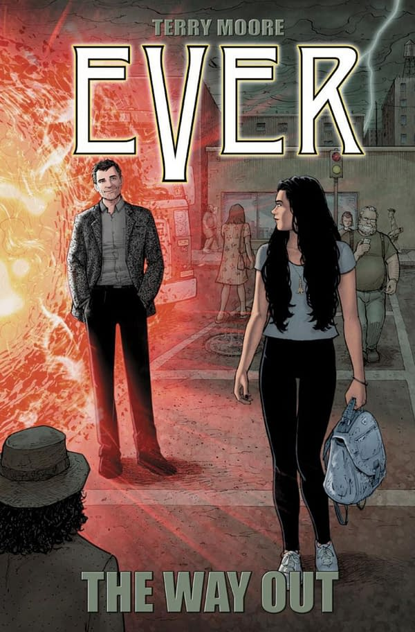 Ever: The Way Out cover by Terry Moore. Credit: Abstract Studio