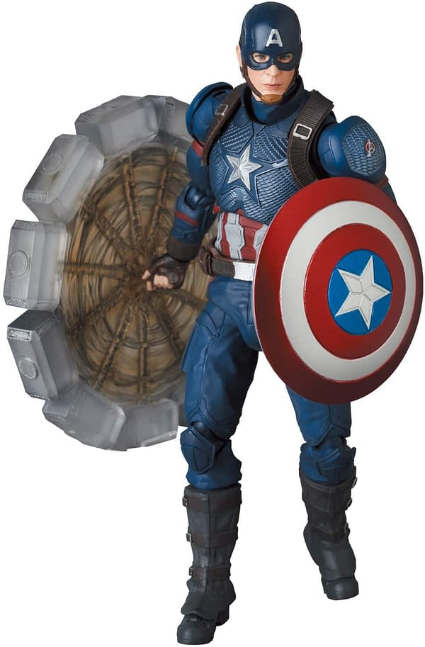 Captain America Wields Mjolnir in Newest MAFEX Figure