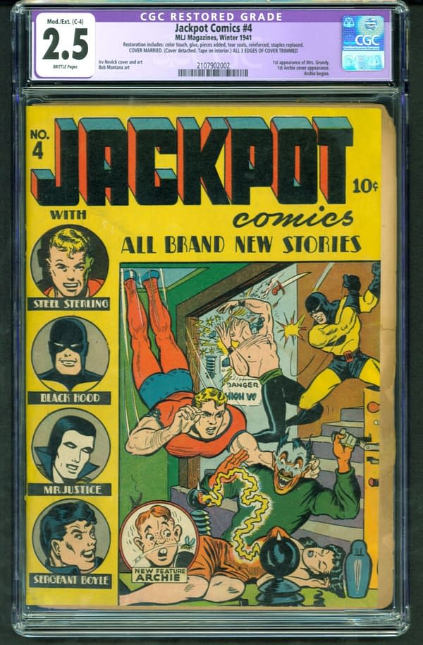 The issue of Jackpot Comics #4 that is up for auction on ComicConnect. Image Credit: ComicConnect