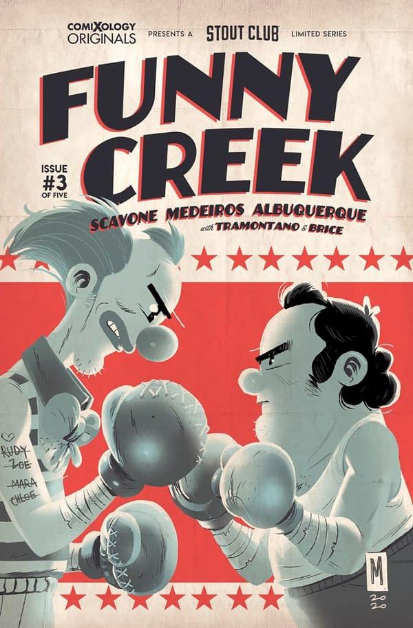 Scavone writes Funny Creek #3. Credit: ComiXology Originals