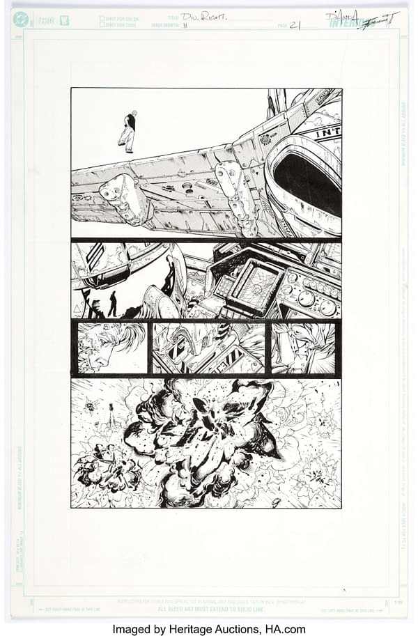 Alan Moore and Jim Lee WildC.A.T.S Original Artwork At Auction