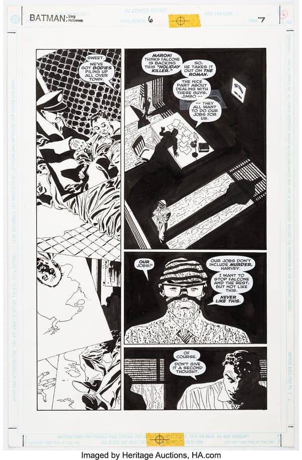 Original Tim Sale Artwork From Batman The Long Halloween At Auction