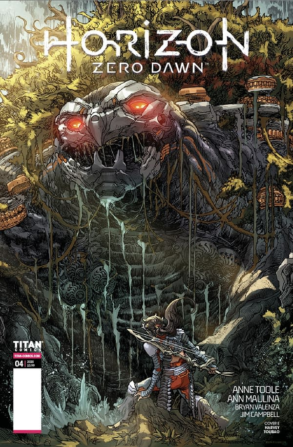 Horizon Zero Dawn Forbidden West New Machine Revealed On Comics Cover
