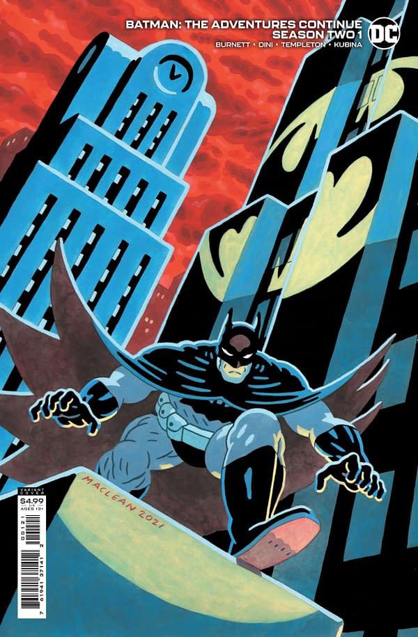 Cover image for BATMAN THE ADVENTURES CONTINUE SEASON II #1 CVR B ANDREW MACLEAN CARD STOCK VAR