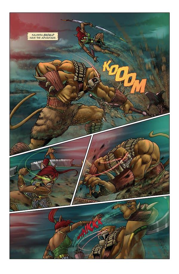 Battlecats #2 art by Andy King and Alejandro Giraldo