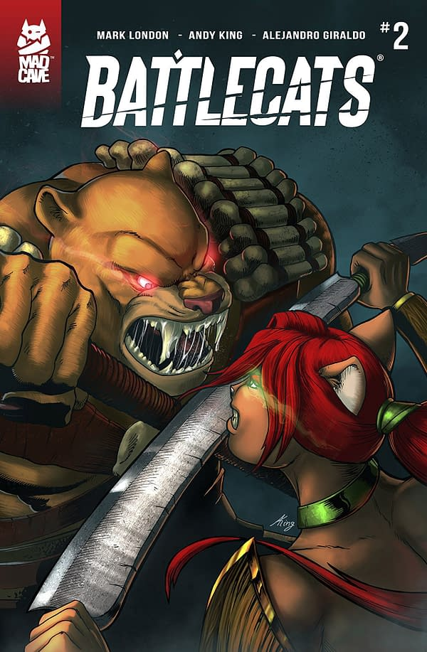 Battlecats #2 cover by Andy King and Julian Gonzalez