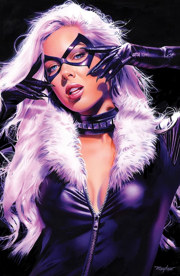Mike Mayhew on the Making of His Black Cat Exclusive Cover