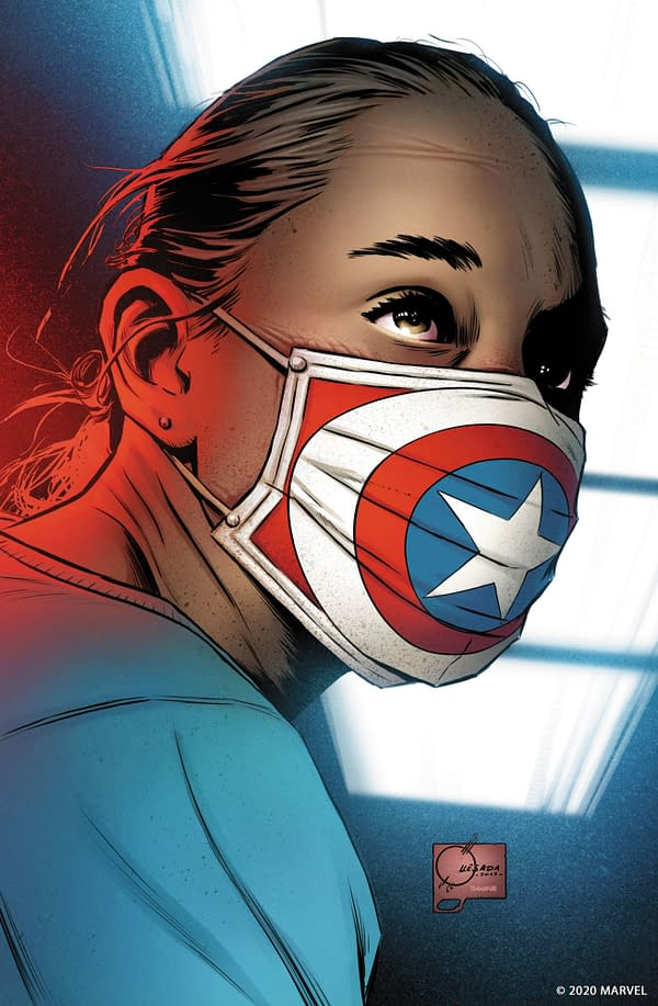 Joe Quesada Creates Captain America Art Celebrating Healthcare Workers.