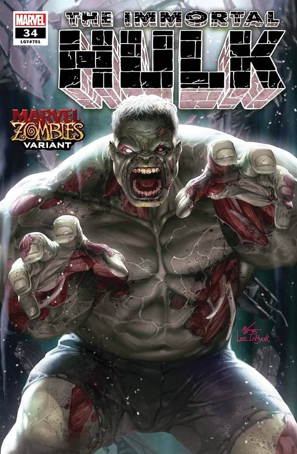 Immortal Hulk #34 Zombie Variant Cover