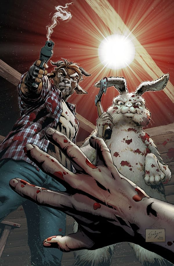Man Goat & The Bunny Man cover. Credit: Zenescope
