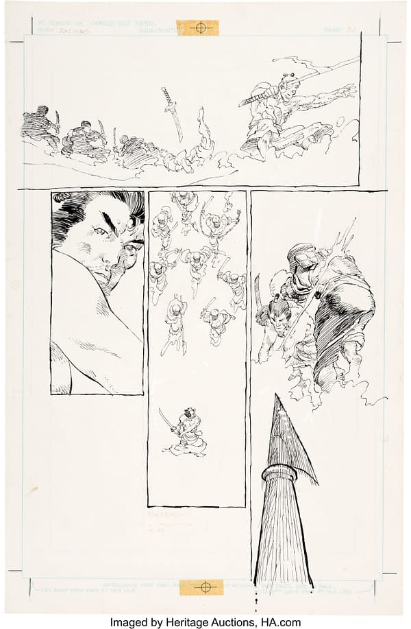 Frank Miller's Daredevil, Ronin, Sin City Original Artwork At Auction