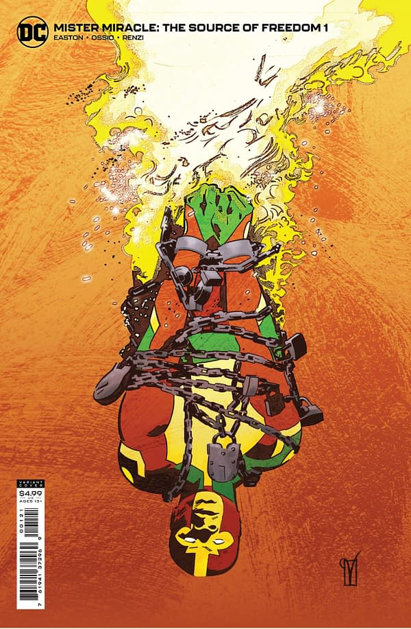 Cover image for MISTER MIRACLE THE SOURCE OF FREEDOM #1 (OF 6) CVR B VALENTINE DE LANDRO CARD STOCK VAR
