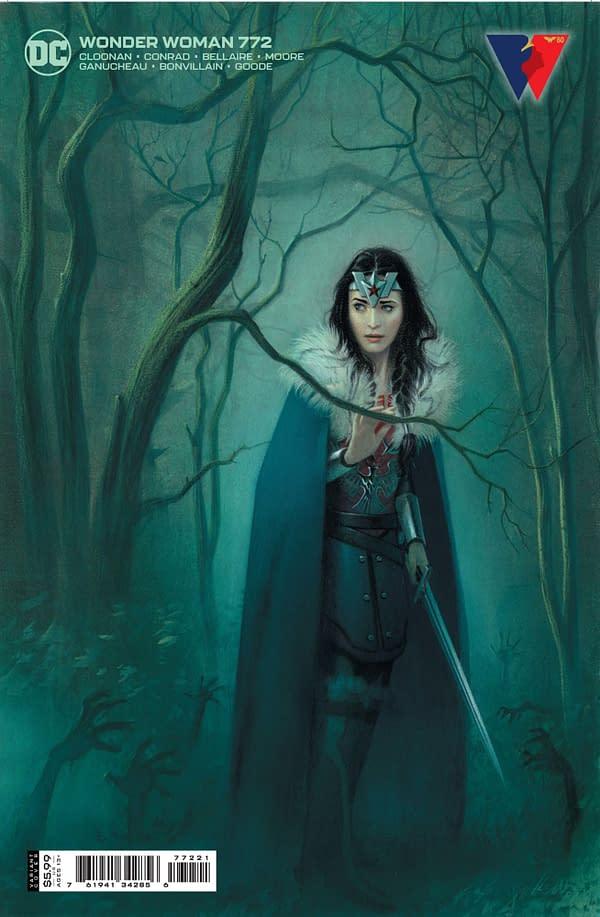 Cover image for WONDER WOMAN #772 CVR B JOSHUA MIDDLETON CARD STOCK VAR