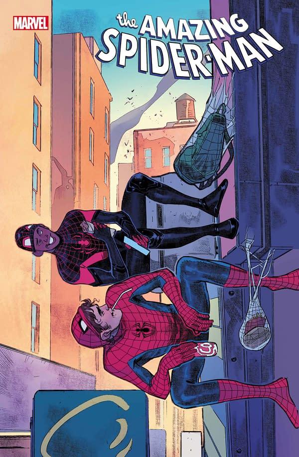 Cover image for AMAZING SPIDER-MAN #74 PICHELLI MILES MORALES 10TH ANNIV VAR