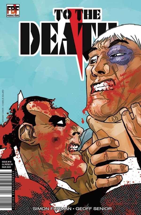 Charlie Adlard's Cover to Simon Furman and Geoff Senior's To The Death #10 Finale