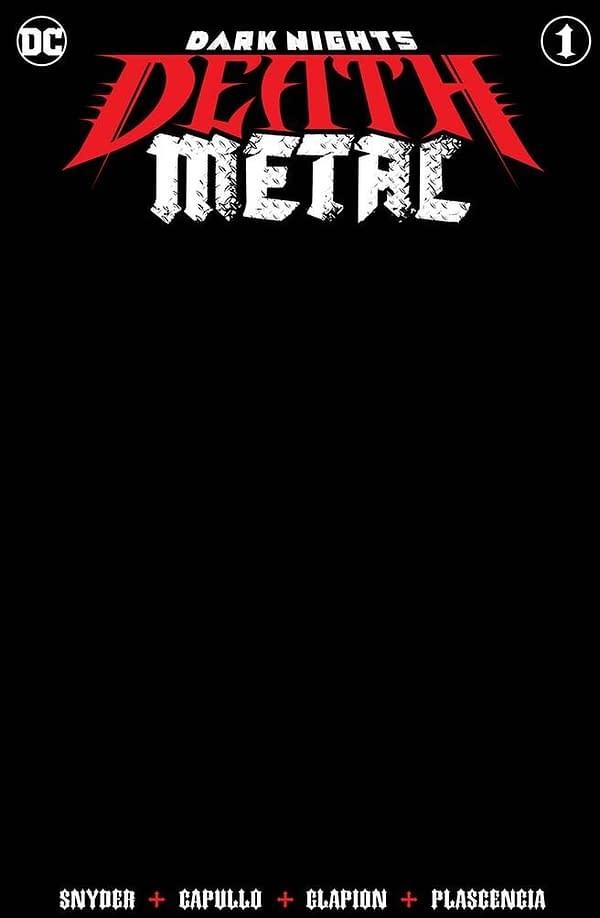 Dark Nights Death Metal #1 Blank Variant