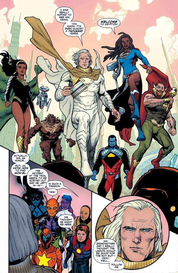 Mon-El Family History Revealed - Legion Of Super-Heroes #10 Spoilers