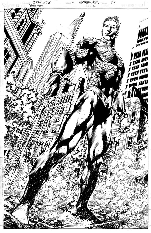 Check Out A Gorgeous Page Of Original Art From Geoff Johns And Ivan Reis' Aquaman #1