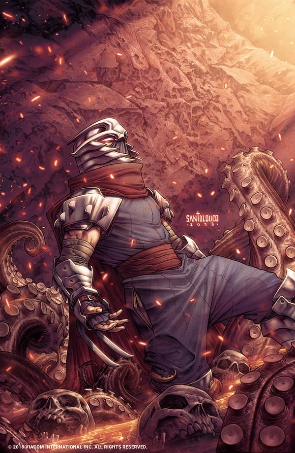 Teenage Mutant Ninja Turtles: Shredder in Hell, a 5-Issue Mini-Series by Mateus Santolouco, Hits Comic Stores in Early 2019