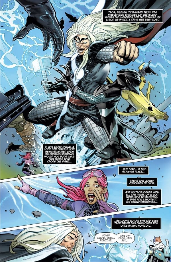 Sif Joins Thor and Galactus on Fortnite Island in New Marvel Pages