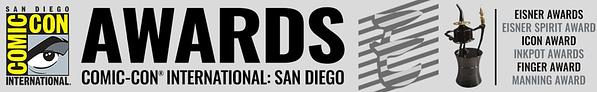 Find the Eisner winners here! 2020 Eisner Award logo. Credit: Comic-Con@Home's Eisner site.