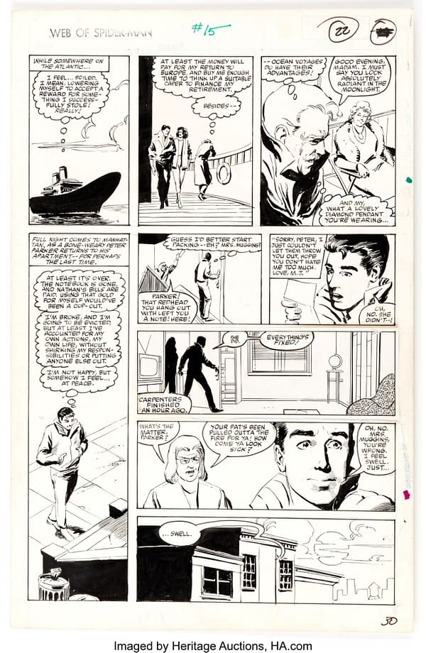How The Original Art From Web Of Spider-Man #15 Changed For Print