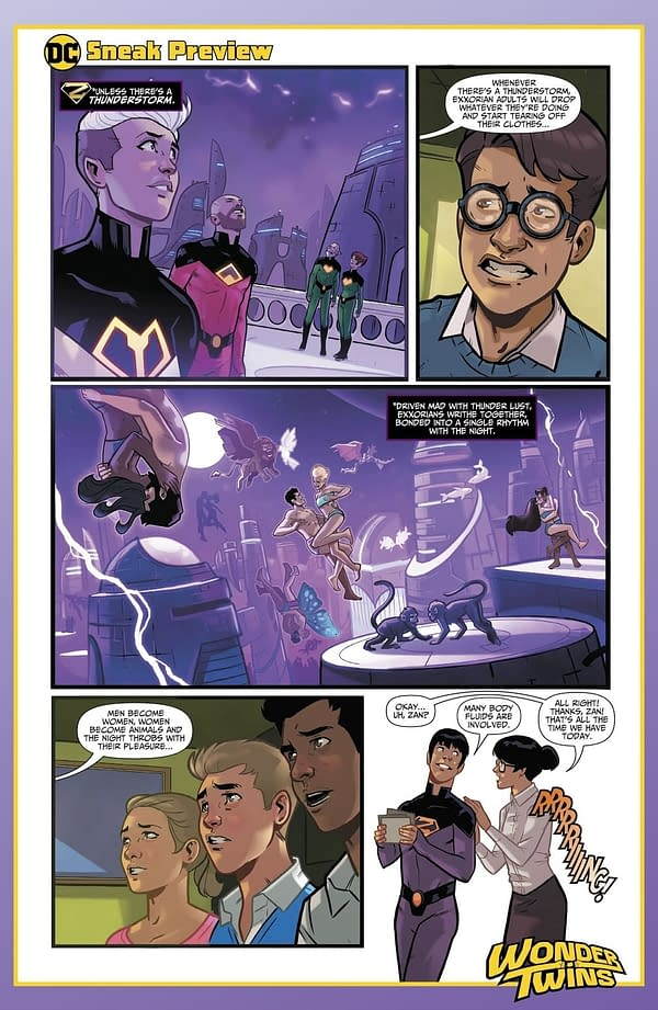 The Sex Lives Of The Exxorians – Wonder Twins #1 Preview in Today's DC Comics