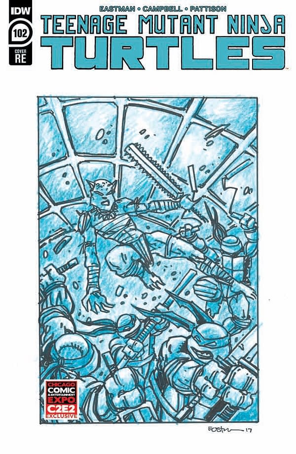 Unpublished Kevin Eastman Teenage Mutant Ninja Turtles Art For ComicBooks For Kids C2E2 Charity Variant