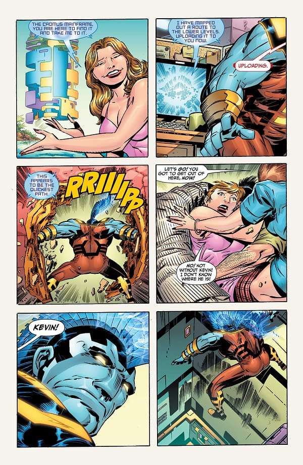 OMAC #1 Five Page Preview by Dan DiDio, Keith Giffen and Scott Koblish