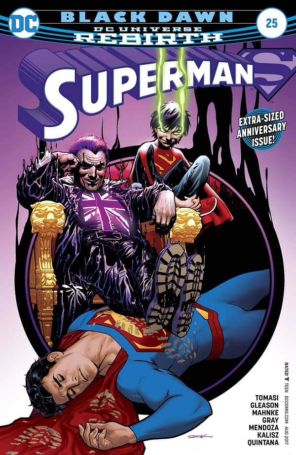 Now British Comic Stores To Get DC Comics' Aquaman #25, Superman #25 And Harley Quinn #22 Late