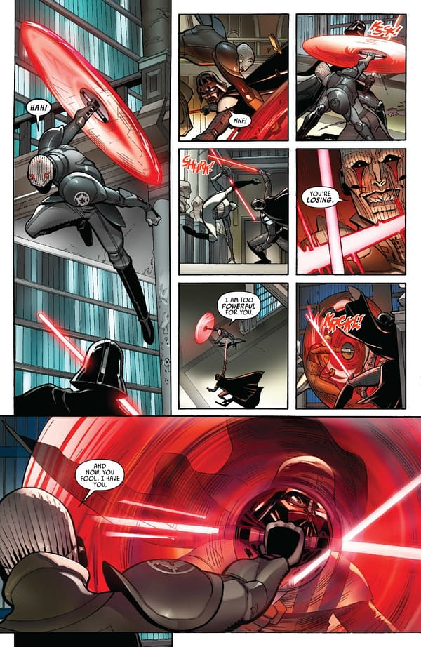 Darth Vader #6 art by Giuseppe Camuncoli and David Curiel